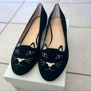 $830 Charlotte Olympia Kitty Flats With Crystals